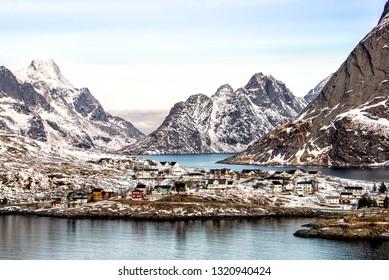 The beautiful village of Reine, Lofoten, Norway