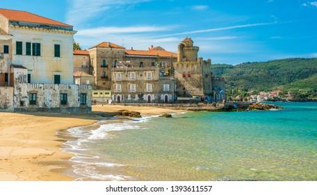 The beautiful village of Santa Maria di Castellabate, Cilento, Campania, southern Italy.