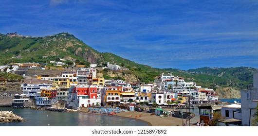 Beautiful village Sant'Angelo on the island of Ischia Italy