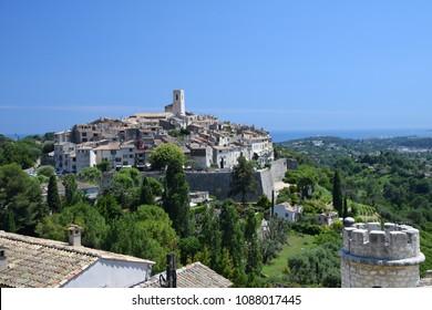 The beautiful village of St Paul De Vence, Provence, France