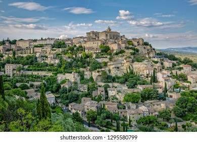 A beautiful village in the Vaucluse - Gordes. Gordes is one of the most beautiful villages in France, Provence, Luberon, Vaucluse, France