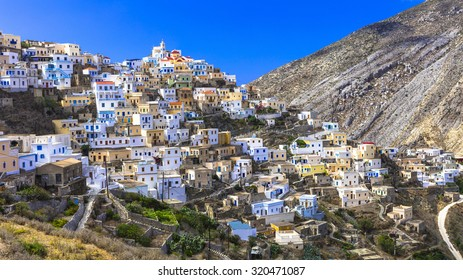 beautiful villages of Greece - impressive Olimbos in Karpathos island