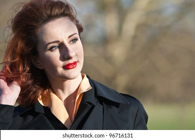 beautiful vintage 1950s woman