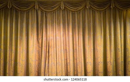 Beautiful vintage curtain background