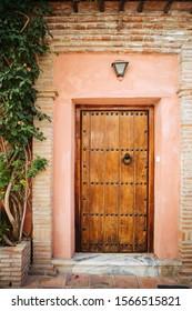 Beautiful vintage door in old Spanish city