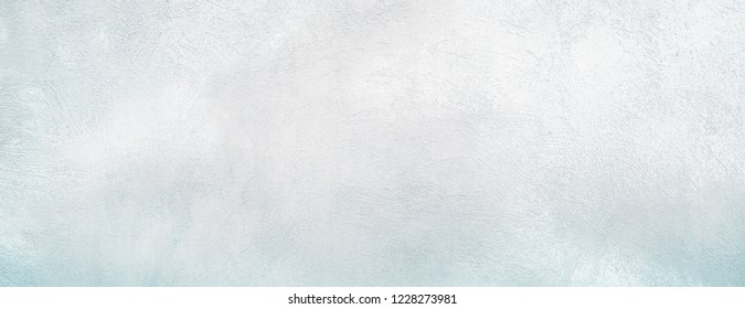 Beautiful Vintage faded white and blue Background. Abstract Grunge Decorative Stucco Wall Texture. Rough Horizontal Image Wallpaper With Copy Space For design