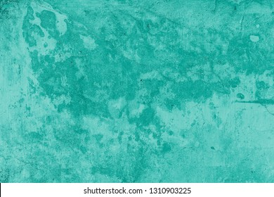 Beautiful Vintage light turquoise Background. Abstract Grunge Decorative Stucco Wall Texture. Wide Rough Background