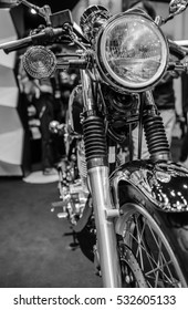 Beautiful vintage Motorcycle detail Soft-focus image