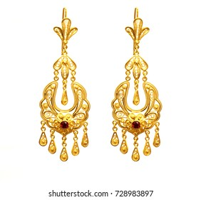 Gold Earrings Images, Stock Photos & Vectors | Shutterstock