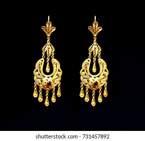 Gold Earrings Images Stock Photos Vectors Shutterstock