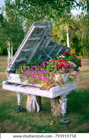 Image result for piano and flowers images