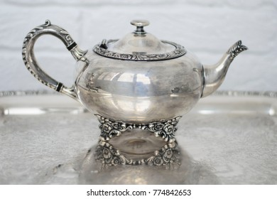 beautiful vintage silver plate teapot for antique store or home  sc 1 st  Shutterstock & Silver Plated Teapot Images Stock Photos u0026 Vectors | Shutterstock