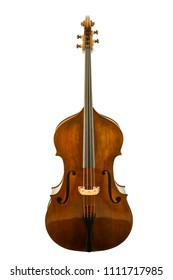 Beautiful vintage viola isolated on white background, clipping path