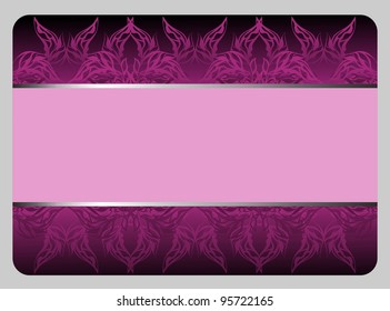 beautiful violet gift card