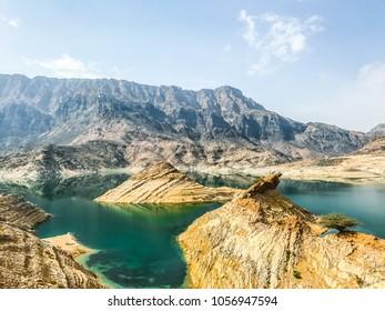 Beautiful Wadi Dayqah dam in Oman
