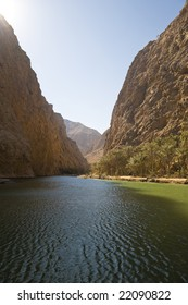 The beautiful wadi Shaab near Tiwi on the Oman coast.