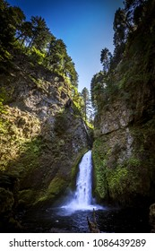 Beautiful Wahclella Falls in the Oregon Columbia River Gorge area