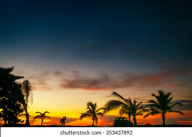 Beautiful walpaper picture of magnificent view in sunset