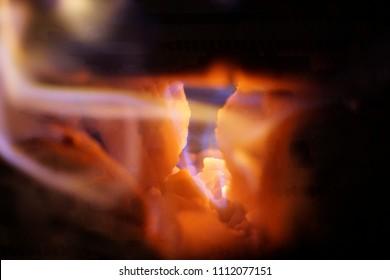 beautiful warm fire