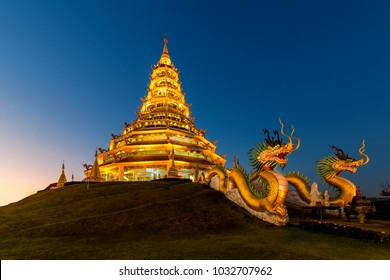 Beautiful of Wat Huay Pla Kung temple (thai name) travel destination the famous place religious attractions of Chiang Rai province, Northern of Thailand.
