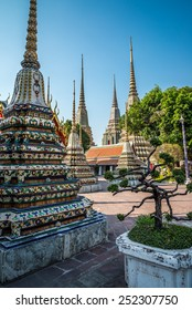 Beautiful Wat Pho temple in Bangkok Thailand