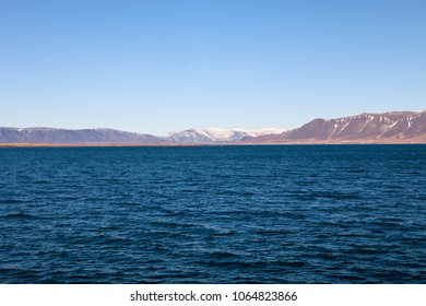 The beautiful water of Faxa Bay with the mountains in the distance