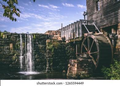 Beautiful water mill in Raleigh Durham North Carolina