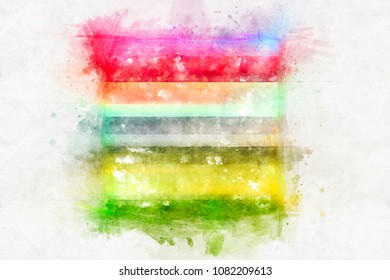 Beautiful watercolor background. Bright splash of colors isolated on white.