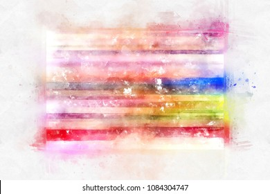Beautiful watercolor background. A bright splash of flowers isolated on white.