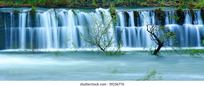 a beautiful waterfall