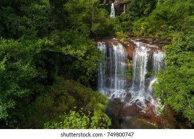 Beautiful waterfall in autumn forest,Nakhonphanom province, Thailand