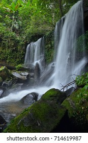 Beautiful waterfall in the deep forest.