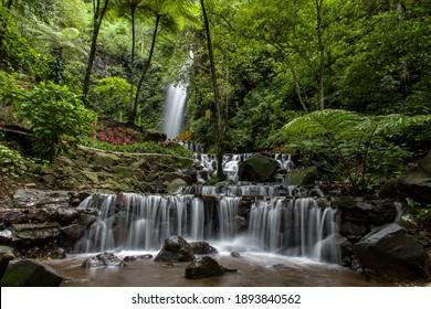 Beautiful waterfall from dlundung, near Mojokerto. - Shutterstock ID 1893840562