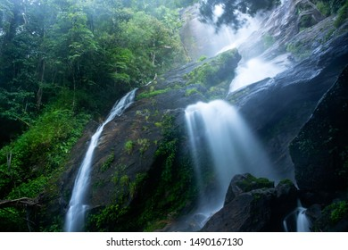 Beautiful waterfall in Doi Inthanon National Park, Thailand.