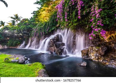 A beautiful waterfall in Hawaii