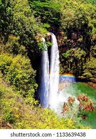 Beautiful waterfall, Hawaii (Wailua Falls)