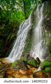 Beautiful waterfall hidden in the forests