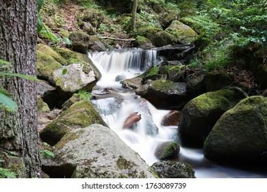 beautiful waterfall in ilsenburg in the beautiful harz