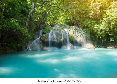 Beautiful waterfall Kanchanaburi province, Thailand