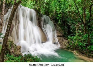 A beautiful waterfall at Khuean Srinagarindra National Park, Thailand