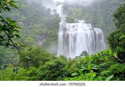 Beautiful waterfall in Lao, Tadkhamued or Khamued waterfall.
