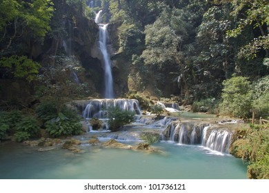 Beautiful Waterfall in Laos