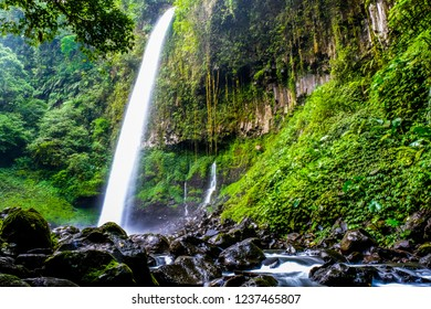 Beautiful waterfall in Lider Banyuwangi