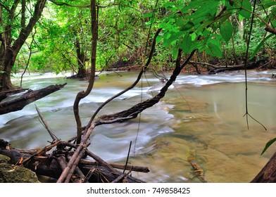 Beautiful waterfall. (Location: Huai Mae Khamin Waterfall , Kanchanaburi Province, Thailand)