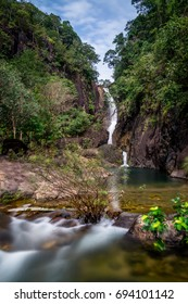 Beautiful waterfall in the middle of the jungle of Koh Chang