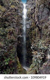 A beautiful waterfall on the plateau of Roraima tepui - Venezuela, Latin America