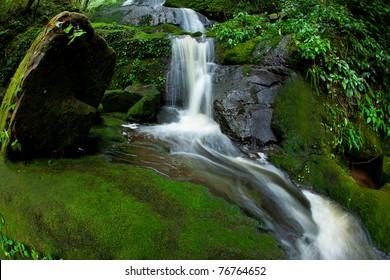 Beautiful waterfall at phu soi dao national park , Thailand