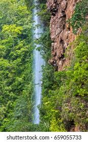 Beautiful waterfall in the rainforest. Brazil. Latin America