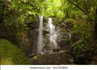 Beautiful Waterfall in Sinharaja Forest Reserve, a national park and a biodiversity hotspot in Sri Lanka