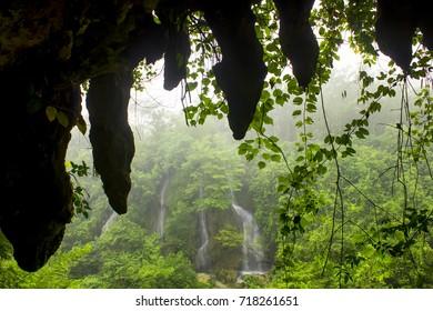 Beautiful Waterfall Sri Gethuk Yogyakarta
